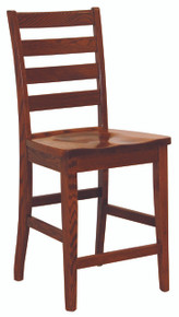 Shaker Ladderback Bar Chair With Shaker Legs