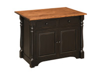 J-83A Pine Kitchen Island - 4'