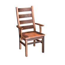 Barnwood Ladderback Arm Chair