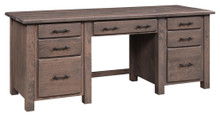 BF-2474 Barn Floor Dbl Pedestal Desk