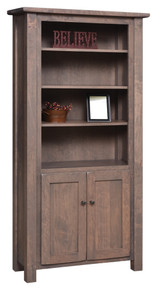 BF-3672-D Barn Floor Bookcase w/Doors