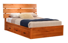MHF Galaxy Slat Platform Bed w/Drawers