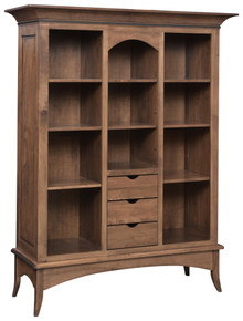 GO-3318 Bunker Hill Bookcase w/ Drawers