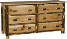 BRG Rustic 6-Drawer Dresser