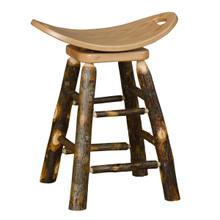 BRG Rustic Swivel Saddle Stool