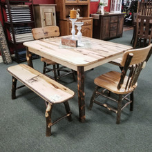 Rustic Hickory Kitchen Set