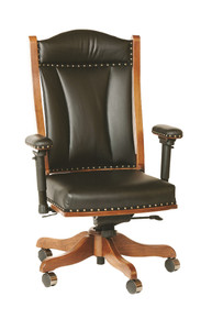 BR-DCA65 Desk Chair w/ Adjustable Arms