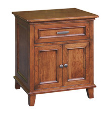 CWF620 Brooklyn Nightstand, 1-Drawer, 2-Door
