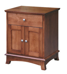 CWF720 Crescent 1-Drawer, 2-Door Nightstand