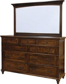 "JL 101 Plymouth 62"" Dresser with Dresser Mirror"