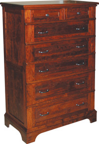 JL 102C Plymouth Cut-Out Base Chest of Drawers
