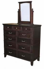 JL 106B Plymouth Splay Base Ladies Dressing Chest with Dressing Chest Mirror
