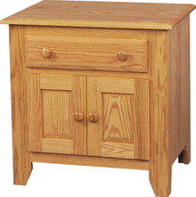 JL 14 Shaker 1 Drawer, 2 Door Nightstand