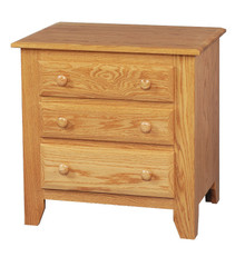 "JL 15 Shaker 27"" 3-Drawer Nightstand"