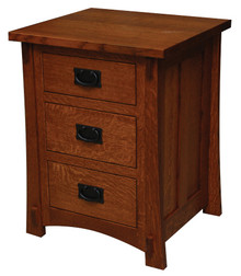 "JL 519 Dutch County Mission 21"" 3-Drawer Nightstand"