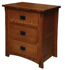 "JL 521 Dutch County Mission 27"" 3-Drawer Nightstand"