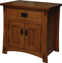 "JL 523 Dutch County Mission 27"" Nightstand, 1 Drawer, 2 Doors"