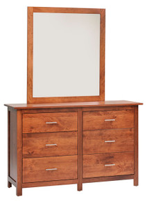 "MHF Ashton 56"" Dresser with Dresser Mirror"