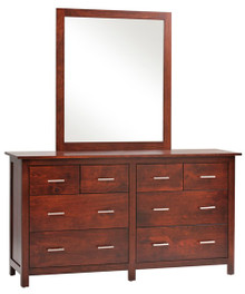 "MHF Ashton 66"" Dresser with Dresser Mirror"