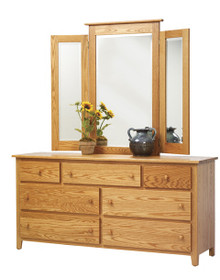 "MHF Bridge Bay 66"" Dresser with Tri Mirror"