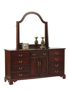 "MHF Elegant River Bend 72"" Dresser with Mirror"