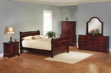 MHF Elegant River Bend Sleigh Bedroom Suite