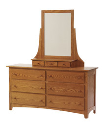 "MHF Elizabeth Lockwood 64"" Dresser with Dresser Mirror"