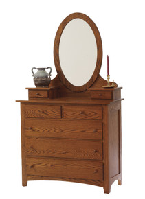 MHF Elizabeth Lockwood Dressing Chest with Dressing Chest Mirror