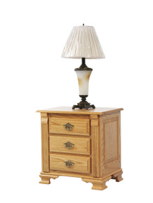 """MHF Journeys End 26"""" Nightstand 3-Drawer"""