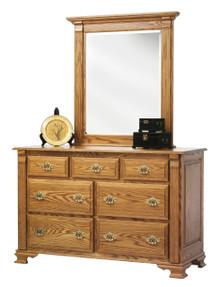 """MHF Journeys End 56"""" Dresser with Dresser Mirror"""