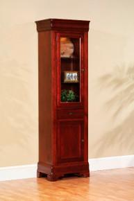 "MHF Louis Phillipe 23"" Bookcase with Door"