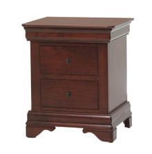 "MHF Louis Phillipe 24"" Nightstand 2-Drawer"
