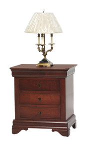 "MHF Louis Phillipe 28"" Nightstand 3-Drawer"