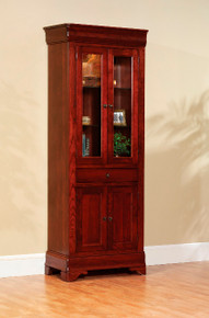 "MHF Louis Phillipe 30"" Bookcase with Doors"
