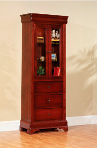 "MHF Louis Phillipe 30"" Bookcase with Drawers"