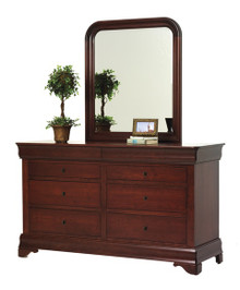 "MHF Louis Phillipe 66"" Dresser with Dresser Mirror"