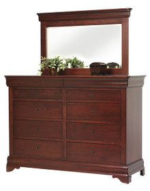 "MHF Louis Phillipe 66"" High Dresser with High Dresser Mirror"