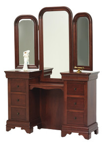 MHF Louis Phillipe Vanity with Vanity Mirror