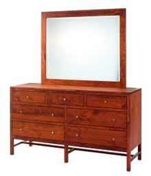 """MHF Lynnwood 66"""" Dresser with Dresser Mirror"""