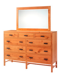 "MHF Lynnwood 66"" High Dresser with High Dresser Mirror"
