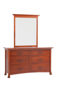 "MHF Oasis 62"" Low Dresser with Low Dresser Mirror"