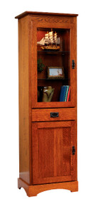 "MHF Old English Mission 23"" Bookcase with Door"