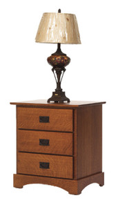 "MHF Old English Mission 26"" Nightstand, 3-Drawer"