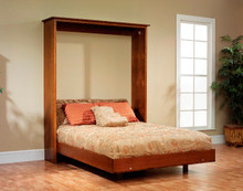 MHF Old English Mission Queen Size Murphy Wall Bed