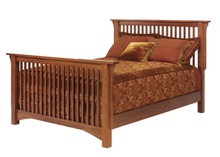 MHF Old English Mission Queen Size Slat Bed