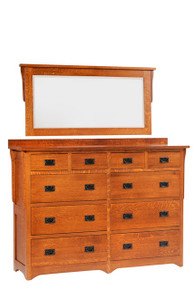 "MHF San Juan Mission 66"" High Dresser with High Dresser Mirror"