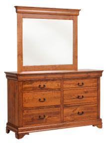 "MHF Versailles 62"" Low Dresser with Low Dresser Mirror"
