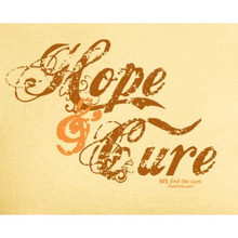 Hope and Cure MS T-Shirt-Yellow Ladies
