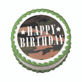 Camo Army Edible Cake Topper Decoration