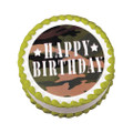 Camouflage Camo Edible Cake Top Decoration